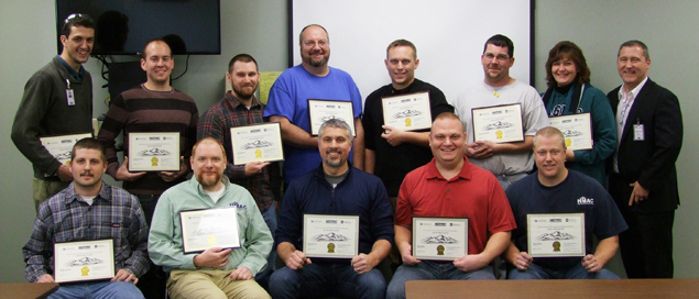 Hitachi Metals Automotive Components (HMAC) employees complete Lean Specialist Certification Course